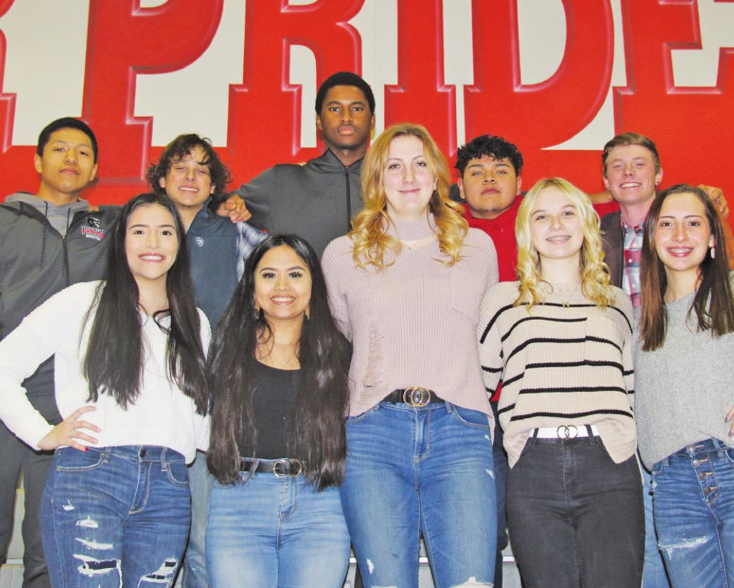 The North Hopkins King and Queen nominees are, from left: (back row) Allan Alvarez, Jordan Holland, Johnny Seamster, Samuel Navarro and Caleb Short; (front row) Kortni Ferrell, Teresa Juarez, Raylee Mathis, Lindsey Faulks and Jacki Perez. Courtesy/North Hopkins ISD