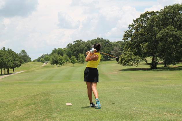 Sulphur Springs golfer Mariam Tran plays at the DARE Golf Tournament in June. At the Daingerfield Country Club, Tran carded a 78 to win the high school girls division of the East Texas Junior Golf Tour's final regular season event Monday.