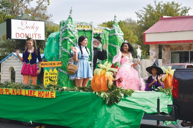The Fall Festival Parade kicked off a week of autumn activities, and this float from Melba's Creations in Sulphur Springs went with a Wizard of Oz theme.