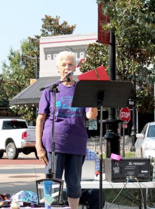 Hillis Bass speaks at the 2019 Walk to Remember in downtown Sulphur Springs.