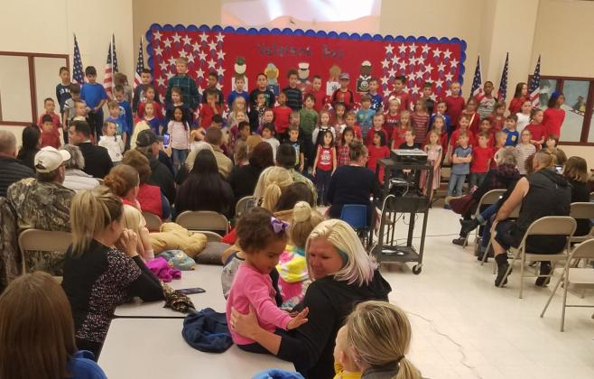 Students at Barbara Bush Primary performed patriotic programs for friends and family on Veterans Day.