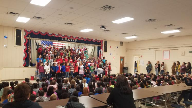 Travis Primary performed patriotic programs for friends and family on Veterans Day.