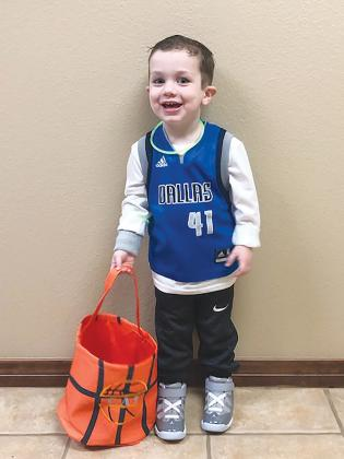Cal Haygood dressed up as retired Dallas Maverick great Dirk Nowitzki. Courtesy/Cristie Haygood