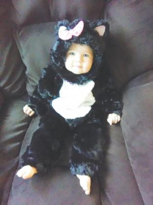Courtney, 11 months, dressed up for Halloween night. Courtesy/Joshua Wilkes