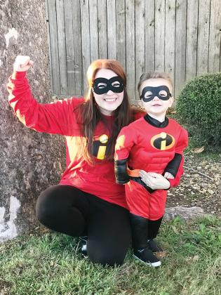 Emily Philips (left) and Hollis Philips dressed as Elastigirl Incredible and Dash Incredible. Courtesy/Betty Horne