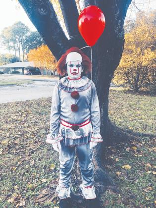 Seth Johns, 11, dressed up as Penny-wise the clown for Halloween. Courtesy/Lorri Johns