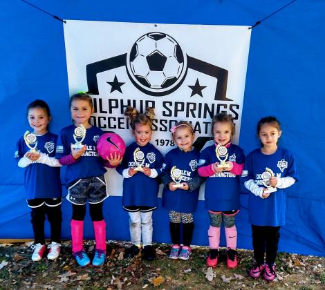 The U6 Blue Team was coached by Joe Gober and sponsored by Double M. Contracting. Courtesy/Jeremy Ferrill