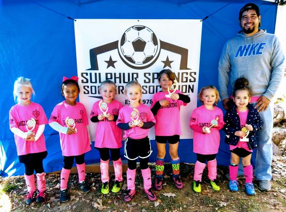 The U6 Pink Team was coached by Jocsan Gamez and sponsored by Gamez Painting.