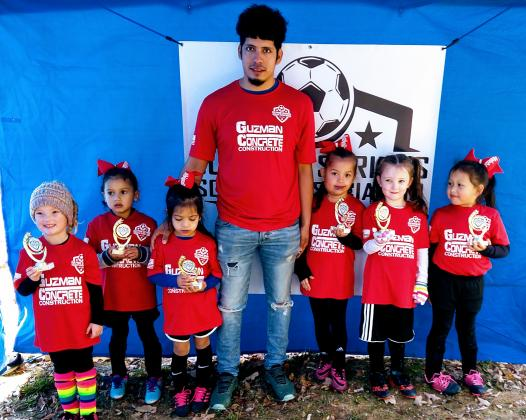 The U6 Red Team was coached by Josue Roque and sponsored by Guzman Concrete.