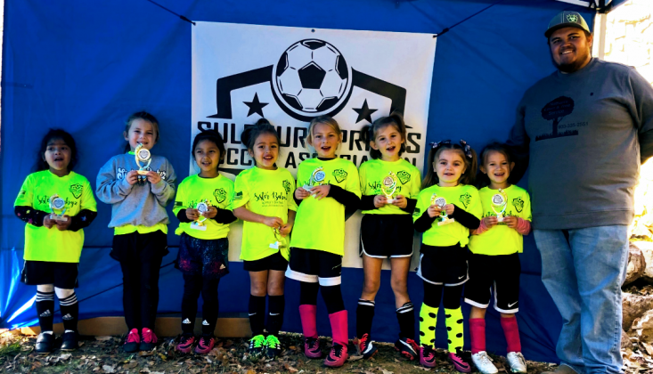 The U6 Neon Yellow Team was coached by Nathan Castorena and sponsored by Sister Babyz.