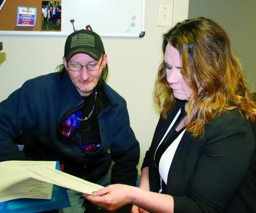 Lonnie Massey of Sulphur Springs receives assistance from Student Advisor Angela Ellis, as he registers as a new student at the Paris Junior College-Sulphur Springs Center. Registration for the Spring Semester continues and classes will begin Monday, Jan. 13. Courtesy/ PJC-Sulphur Springs
