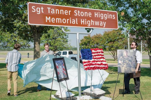 State Highway 154 was renamed Sgt. Tanner Stone Higgins Memorial Highway from Sulphur Springs to Winnsboro in June 2015 during an unveiling ceremony. Archive