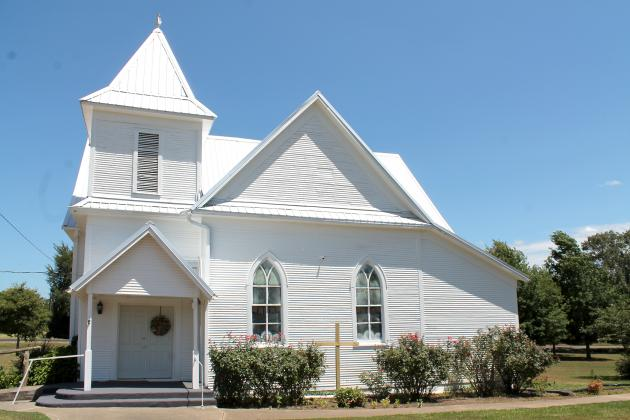 Black Oak Baptist Church shines after 111 years standing at its location off FM 69 near Como. The congregation has existed for 164 years. Staff photo by Taylor Nye