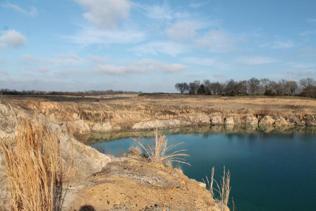 A stock pond at Thermo nearest Helfferich Hill was the source of controversy earlier this year/ Staff photo by Taylor Nye