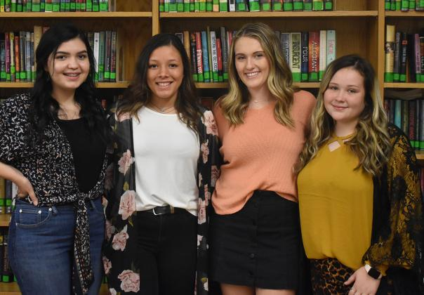 Como-Pickton's Homecoming Queen candidates are, from left, Cindy Munoz, Kionna Conley, Katie Morgan and Faith Watkins. The Queen will be named before the football game Friday at 6:50 p.m.